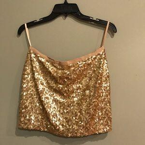 Dresses & Skirts - Gold Sequin Mini Skirt